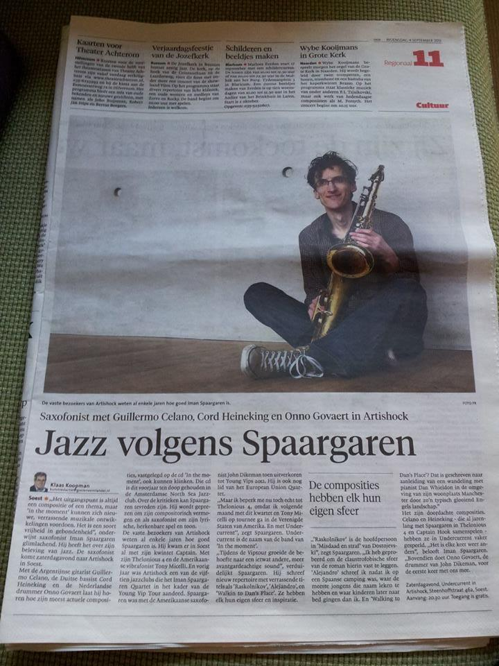 Newspaper article Undercurrent @ Artishock, Soest